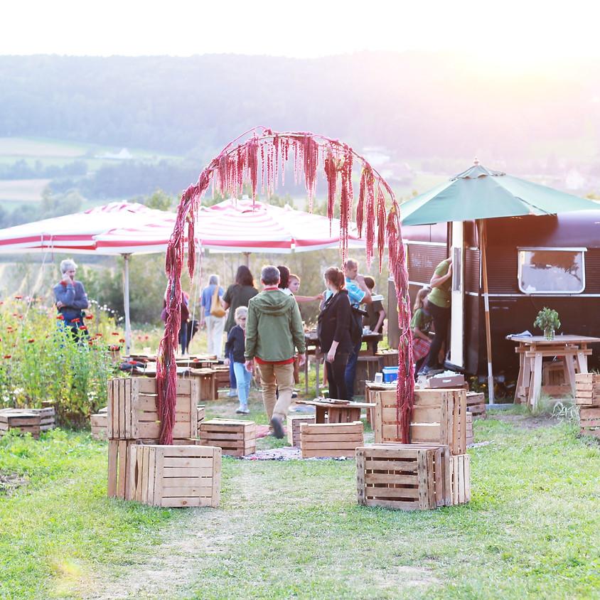 GARTENLUST Fest  und Picknick im BIO Blumenfeld