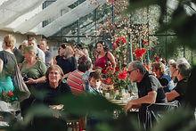 feiern, lachen und lernen im glashaus vo