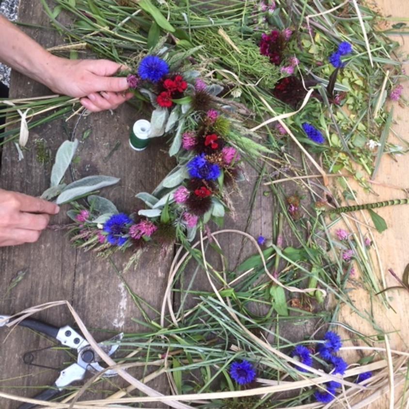 WILDE KRÄNZE aus Blüten und Kräutern Nachmittagsworkshop