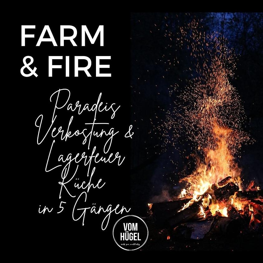 FARM & FIRE Sommer Abend am Acker mit Paradeis Verkostung & Feld Küche