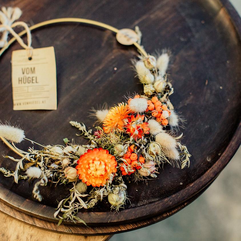 Kurzworkshop: Blüten Kräuter Kranzerl