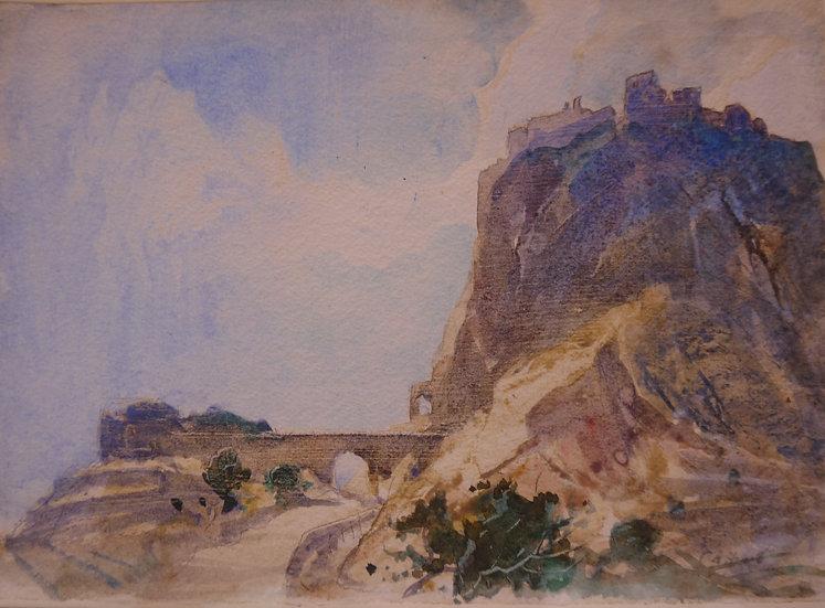 Cecil Arthur Hunt, Hill Top Ruins, Sicily
