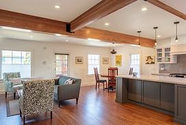 Remodeled living room kitchen area
