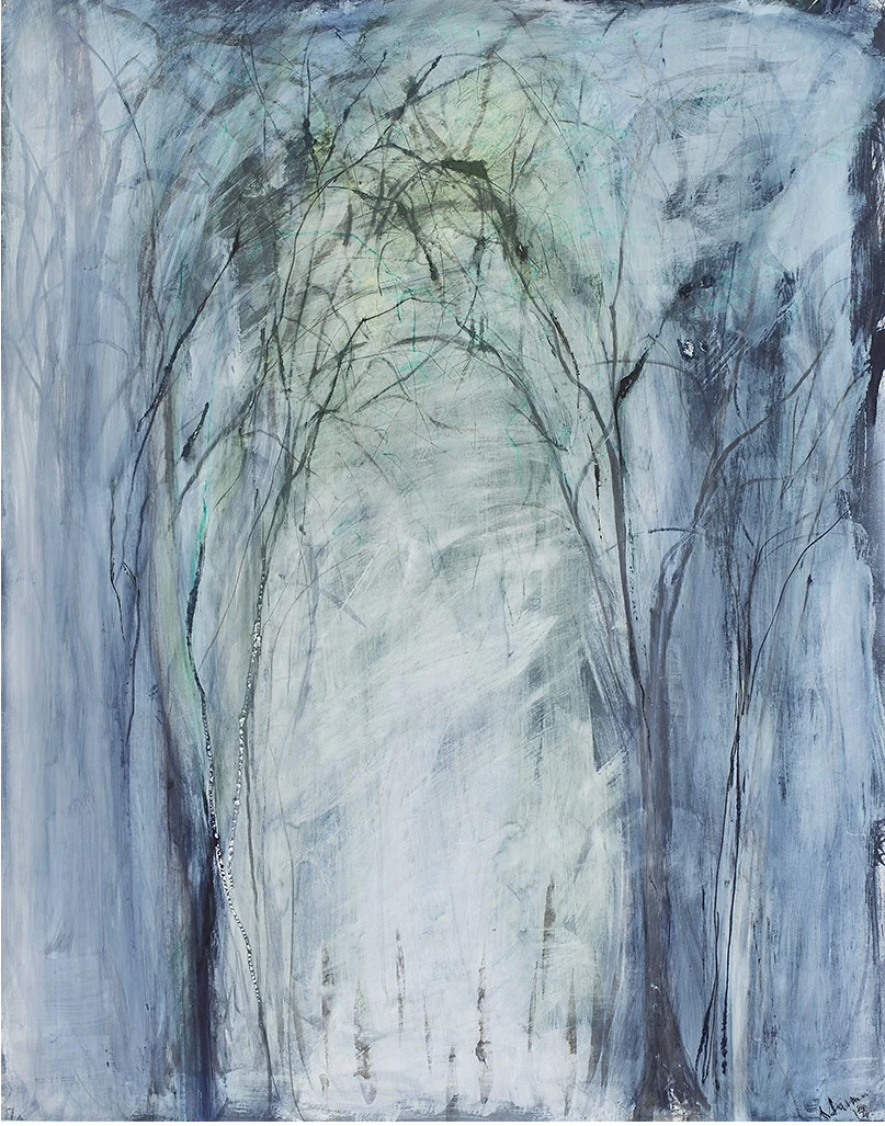 Sylvia Sussman - Portals l ,Oil and Sumi ink on paper