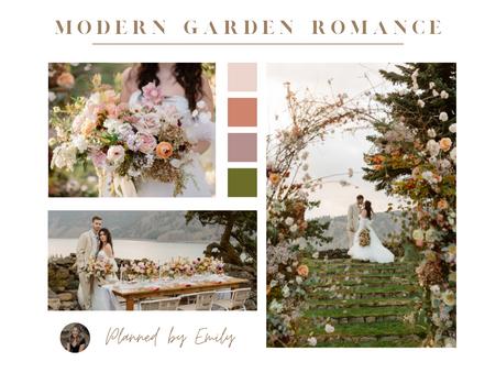 A Modern Garden Romance Wedding