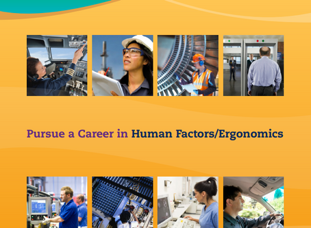 Pursuing a career in Human Factors/Ergonomics
