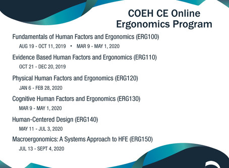 Online Ergonomics Program 2019-2020
