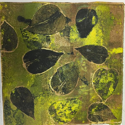Monoprint: A Study in Leaves #2