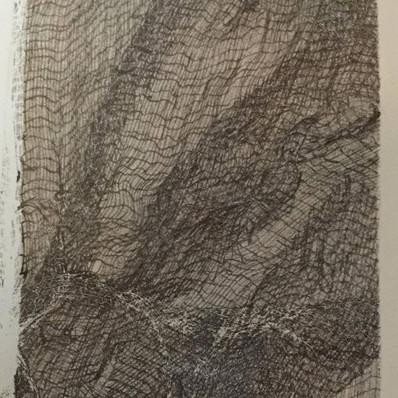 Monoprint: Gauze #3