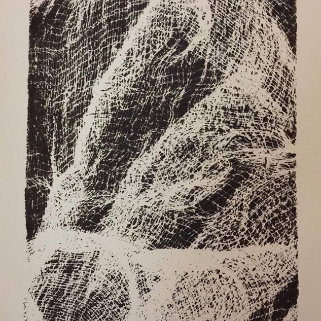 Monoprint: Gauze #1