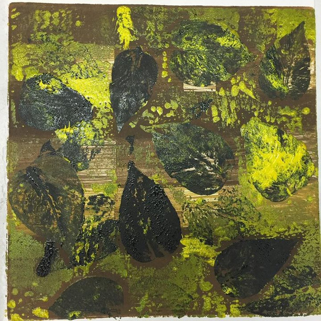 Monoprint: A Study in Leaves #1