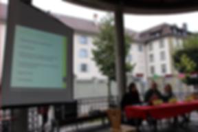 Présentation du PITSC lors des 10 ans de l'Association Trait d'Union à Fribourg