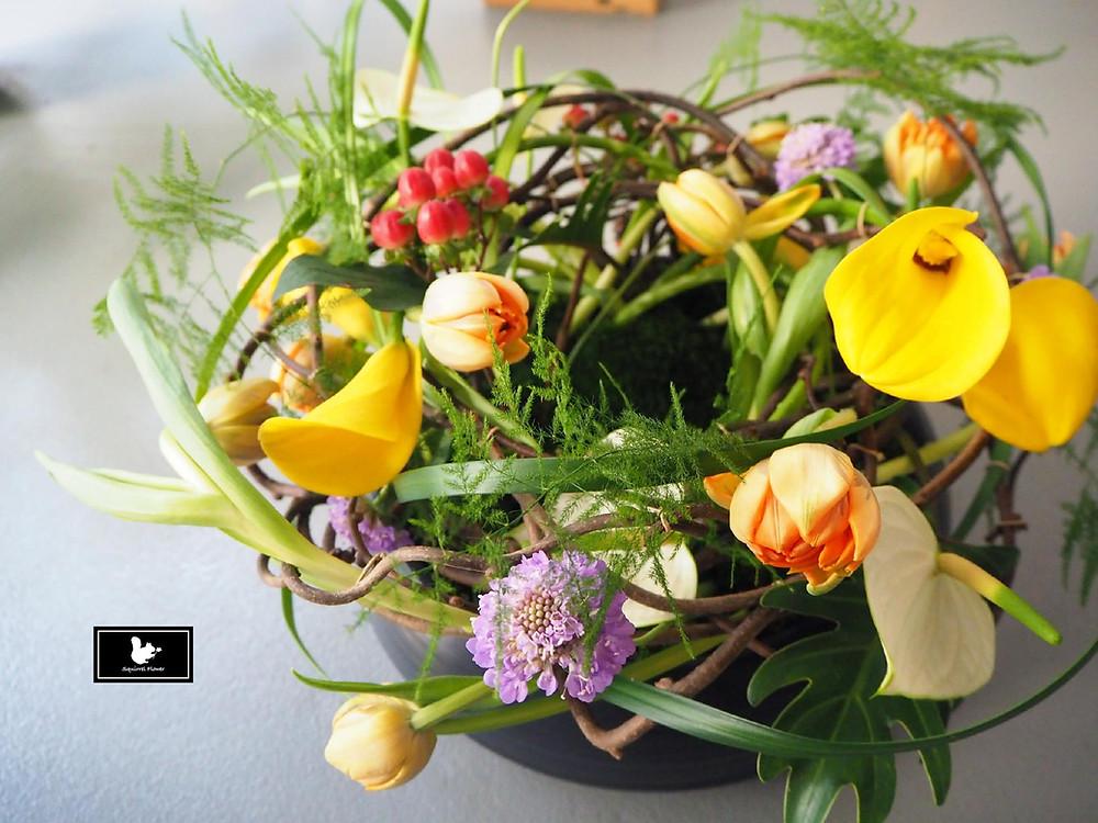德國花藝盆花