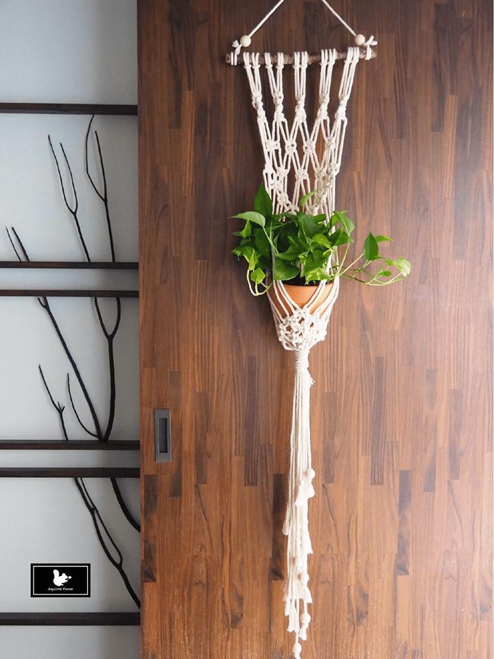 吊掛編織植栽 Hanging Plant Decor