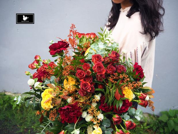 big handtied bouquet