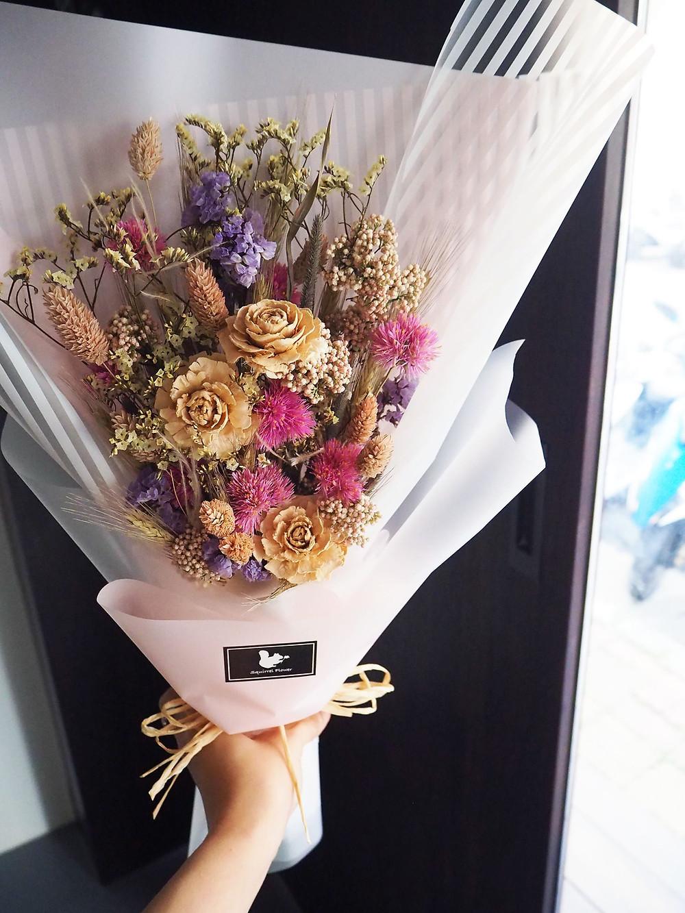 新竹畢業乾燥花束