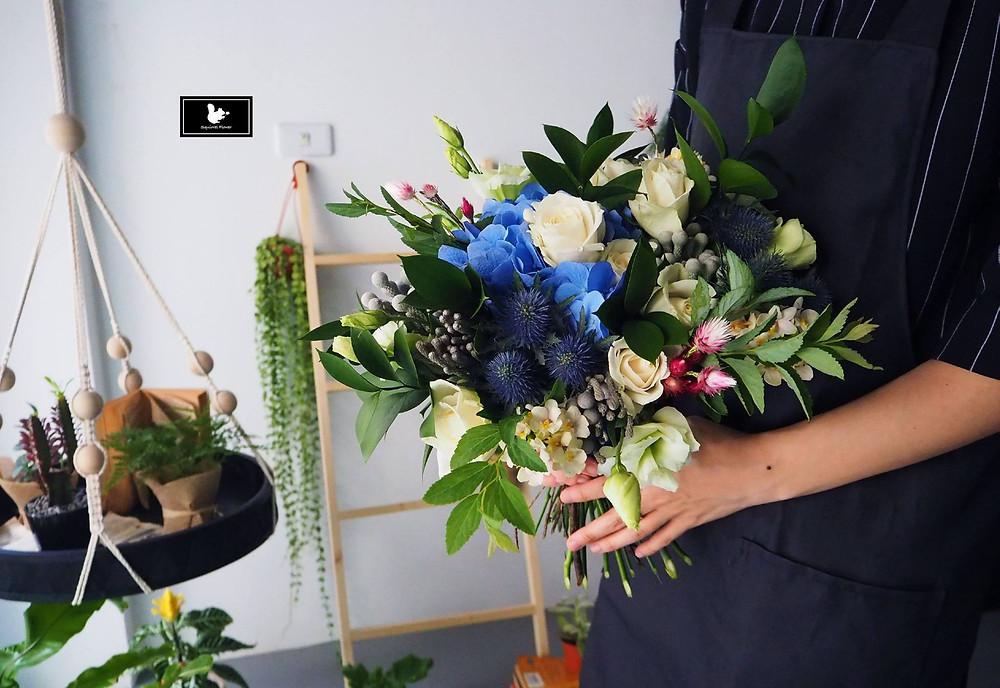 藍色系捧花