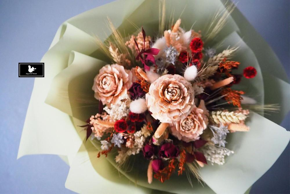 乾燥花求婚花束
