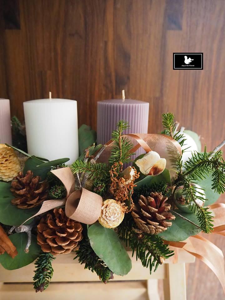 聖誕燭台桌飾