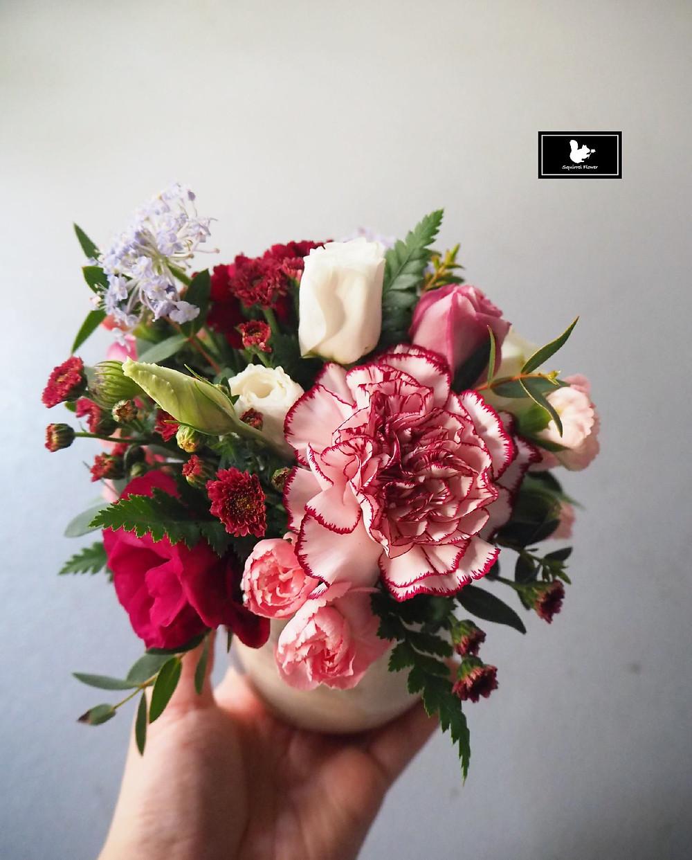 新竹;小盆花;康乃馨