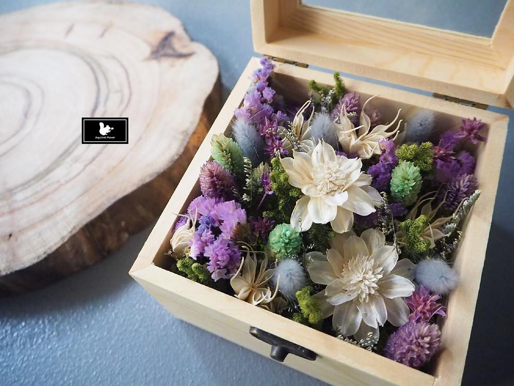 乾燥木盒花