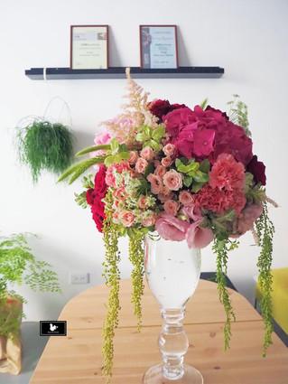 婚禮文定盆花佈置