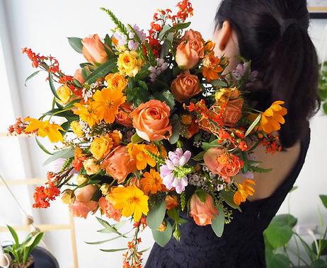 4500 橘色捧花 約直徑30cm4.jpg