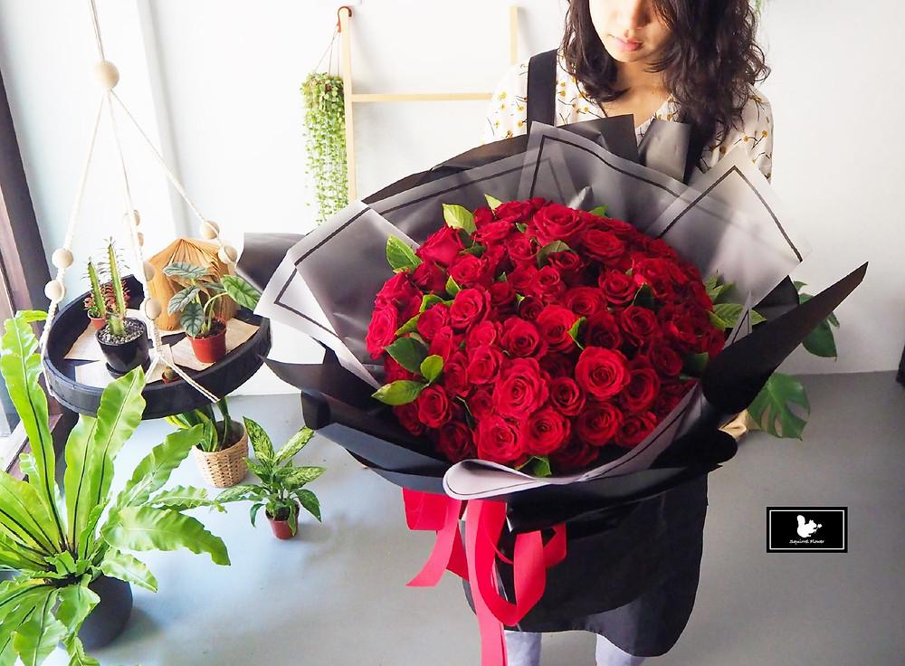 新竹花束;99玫瑰