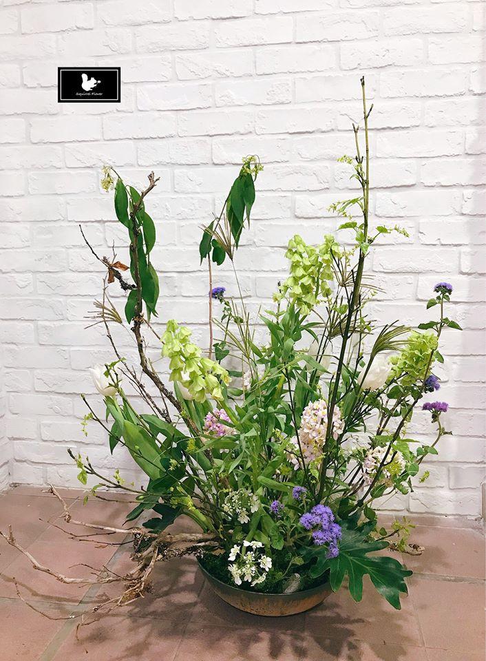 植物性風格盆花