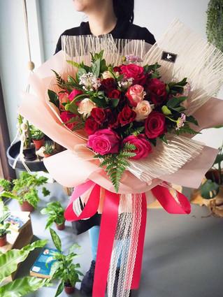 情人節玫瑰花束