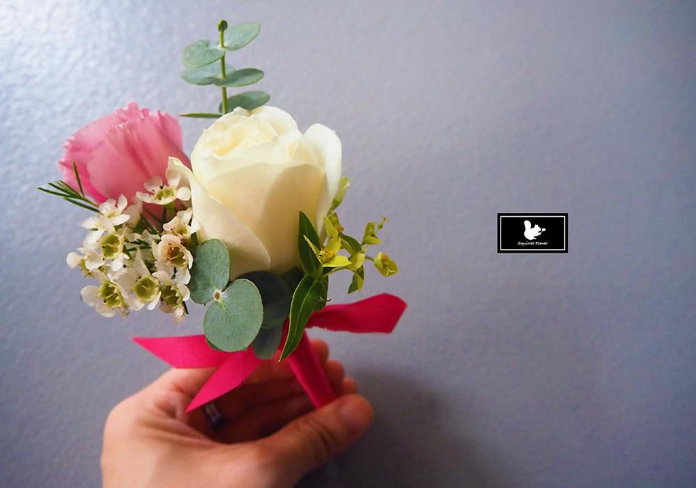 新竹新郎胸花