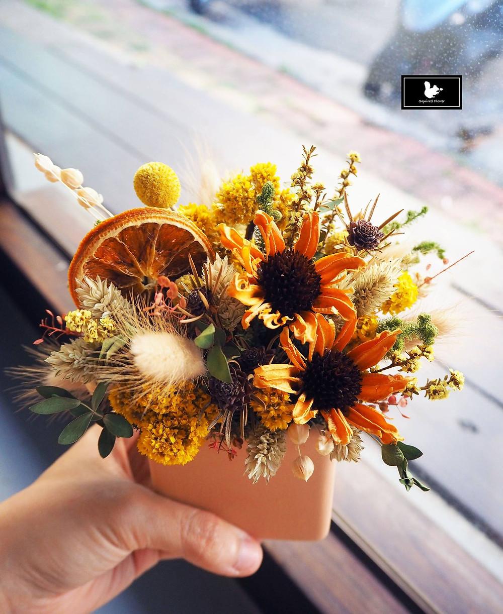 開幕乾燥花盆花