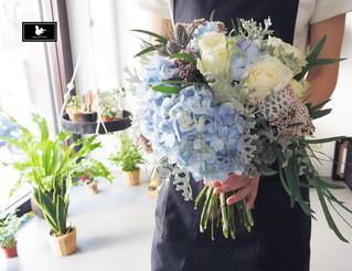美麗的新嫁娘與美麗的捧花