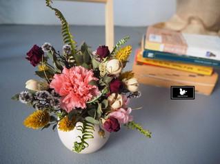 母親節乾燥花、不凋花 小盆花