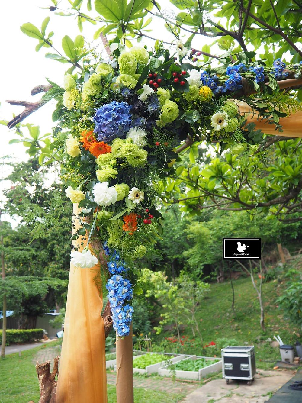 花藝佈置;花拱門