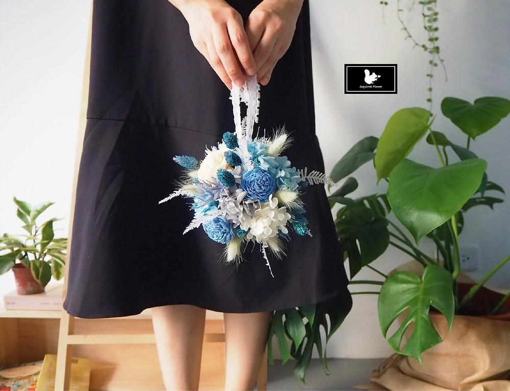 水藍星 Flower Ball (乾燥花)