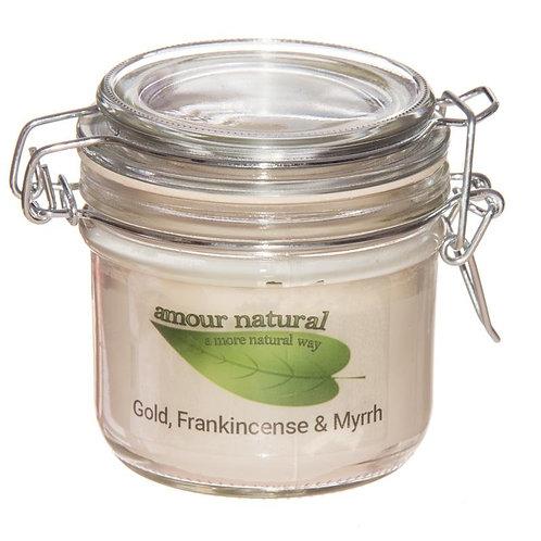 Frankincense and Myrrh Candle, 200ml Clip Jar