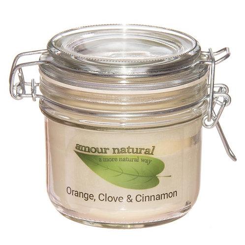 Orange, Clove and Cinnamon Candle, 200ml Clip Jar