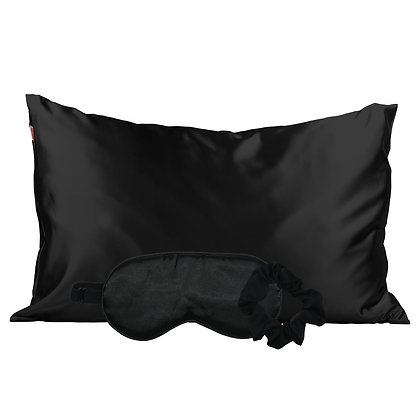 KITSCH Satin Sleep Set- Black