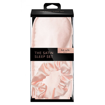 KITSCH Satin Sleep Set- Blush