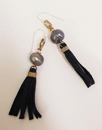 Blue/green Baroque Pearl tassel Earrings