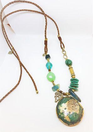 Roman glass Statement Necklace