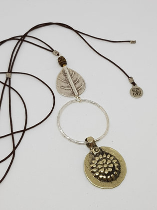 Mix Metals Adjustable Pendant