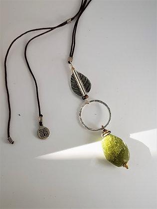 Faceted Green Garnet Necklace