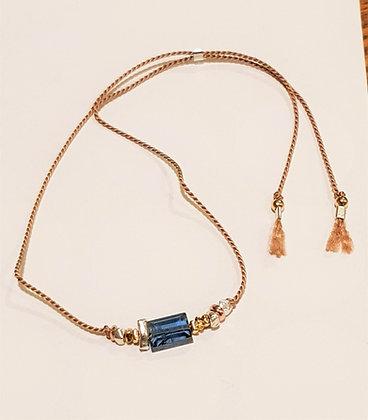 Silk and Kyanite Bracelet