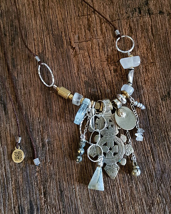 Cluster Necklace featuring Ethiopian Pendant