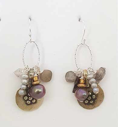 Vintage Flower Small Cluster Earrings