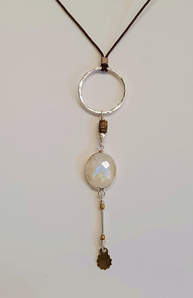 Faceted Moonstone Pendant