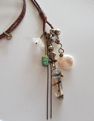 Vintage cluster Necklace