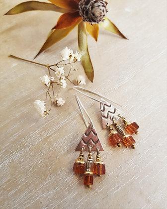 Hessonite Garnet Petite Earrings